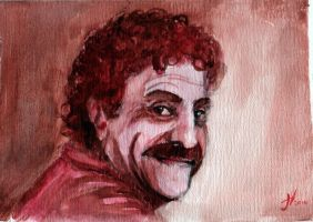 Kurt Vonnegut watercolor by thewalkingman