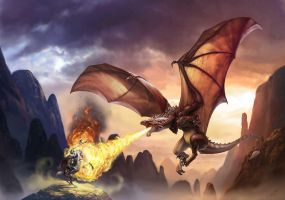 Dragon killing St George by ChrisRa