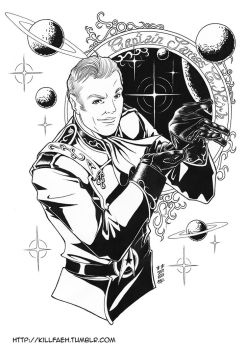 Customized Captain Kirk - Lineart by Killfaeh