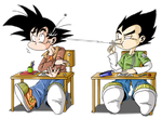 Chibi Goku and Vegeta by BlazeCK-PL