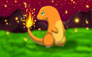 Afiera the Charmander by MeanCheen