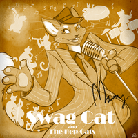 Swag Cat and the Hep Cats -Sepia- by HellLemur