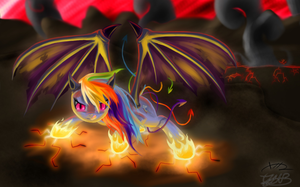 Rainbow Demon Dash by Bluest-Ayemel