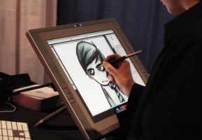 ted and the cintiq by Ithilean