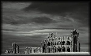 Whitby Abby (Infrared) by GaryTaffinder