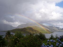 Rainbow Over Glencoul by Rialys