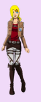 me in attack on titan by buttercup234