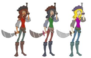 Pirate girl concept-color variations by echeneus