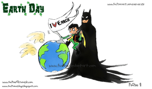 Earth Day ID - Robin and Bat by FuSSsL