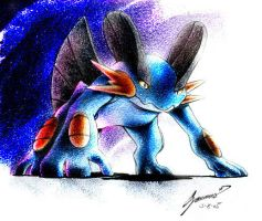 Dark Swampert by JA-punkster