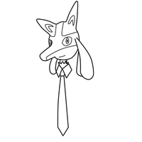 Lucario With Tie by toamac