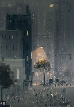 Strangers in the city by PascalCampion