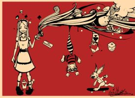 Alice in psycodelic world by tintanaveia