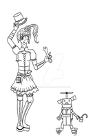 Steam Punk OCs- Amelia Springear And Boggle by Penguinanthrogirl99