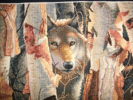 Wolves in the wood close up by Karexie-Maylin
