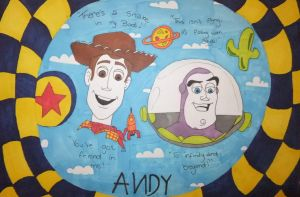 Woody and Buzz Unfinished by chloesmith8