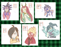 Yokai Expression Doodles by Camichuriin
