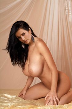 Denise Milani Nude On Bed 2 (Fake) by DrVillain