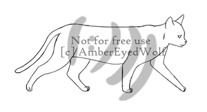 Personal Lineart: Cat by AmberEyedWolf