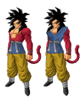 Real Goku SSJ4 by RobertoVile