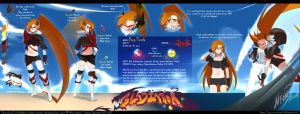Lil Gladiator: Fang Ref Sheet by neon-drane