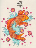 The Birthday Koi Fish by AMANDAtheKID