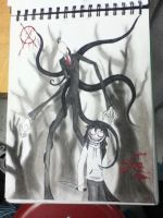 SlenderMan and Jeff the Killer by dragonholder411