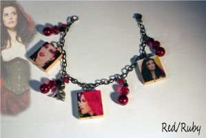 Red/Ruby Charm Bracelet by KouranKiyo