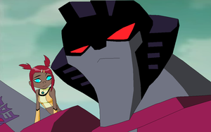 Sari and Starscream by Fluffomaru
