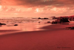 Red sunset - Fort Bragg - CA by tbeam3472