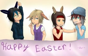 Happy Chibi Easter!! by LexiSmiles