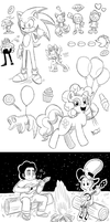 Cartoon Sketch Dump by LilyandJasper