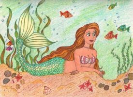 Mermaid Sea Life by jujubeeze