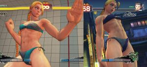 USF4 CAMMY Bikini Costume MOD Screenshot by YUKARIN2012