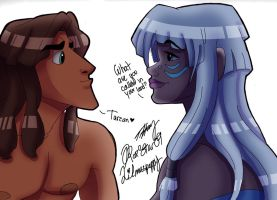 Tarzan meets Kida by LilMissPeppy