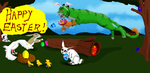 Hunting for eggs happy Easter! (points) by Celtic-Tigeress