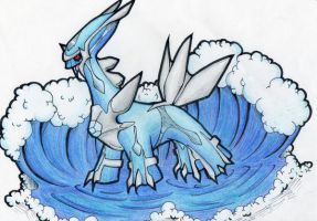 Dialga of the Waves by suicunedragon