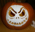 Jack Skellington Pumpkin-2011 by starsonfire24