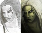 Wraith Before and After. by hybridgothica