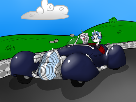 Fast cars and Horses to Drive Them (update) by SkyDiggityDive-art