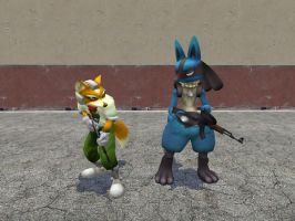 Fox and Lucario in Gmod by Garrys-Mod-Dude