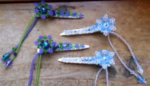Hair Clippies by OdinsBeadHall