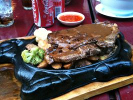 Sizzling Steak by Gexon