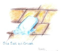 sea salt ice cream by Akayaoi