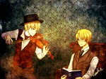 Commission: Arthur Holmes and Alfred Watson by CrazyCookieManiac