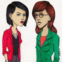 Daria And Jane by TomikoArt
