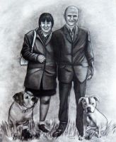 couple with dogs commission by ADRIANSportraits