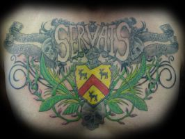 Servais Family Crest by LeviSmithArt