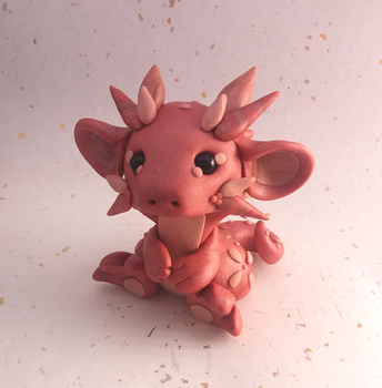 Rosegold Dragon by Critterkins