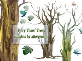 Fairy Tales' Tree Brushes by altergromit